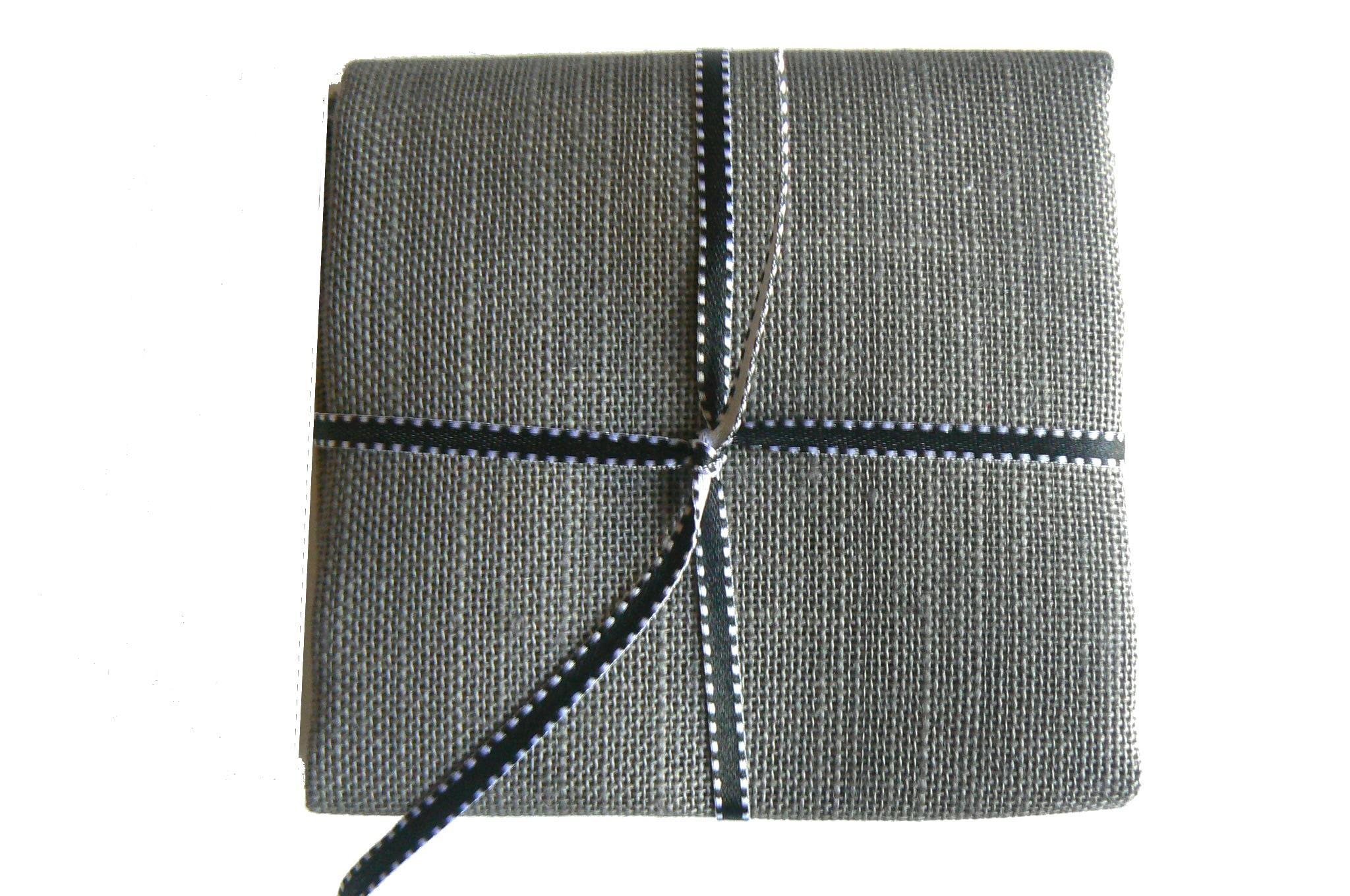 Lin gris souris 12 fils toile pour point de croix
