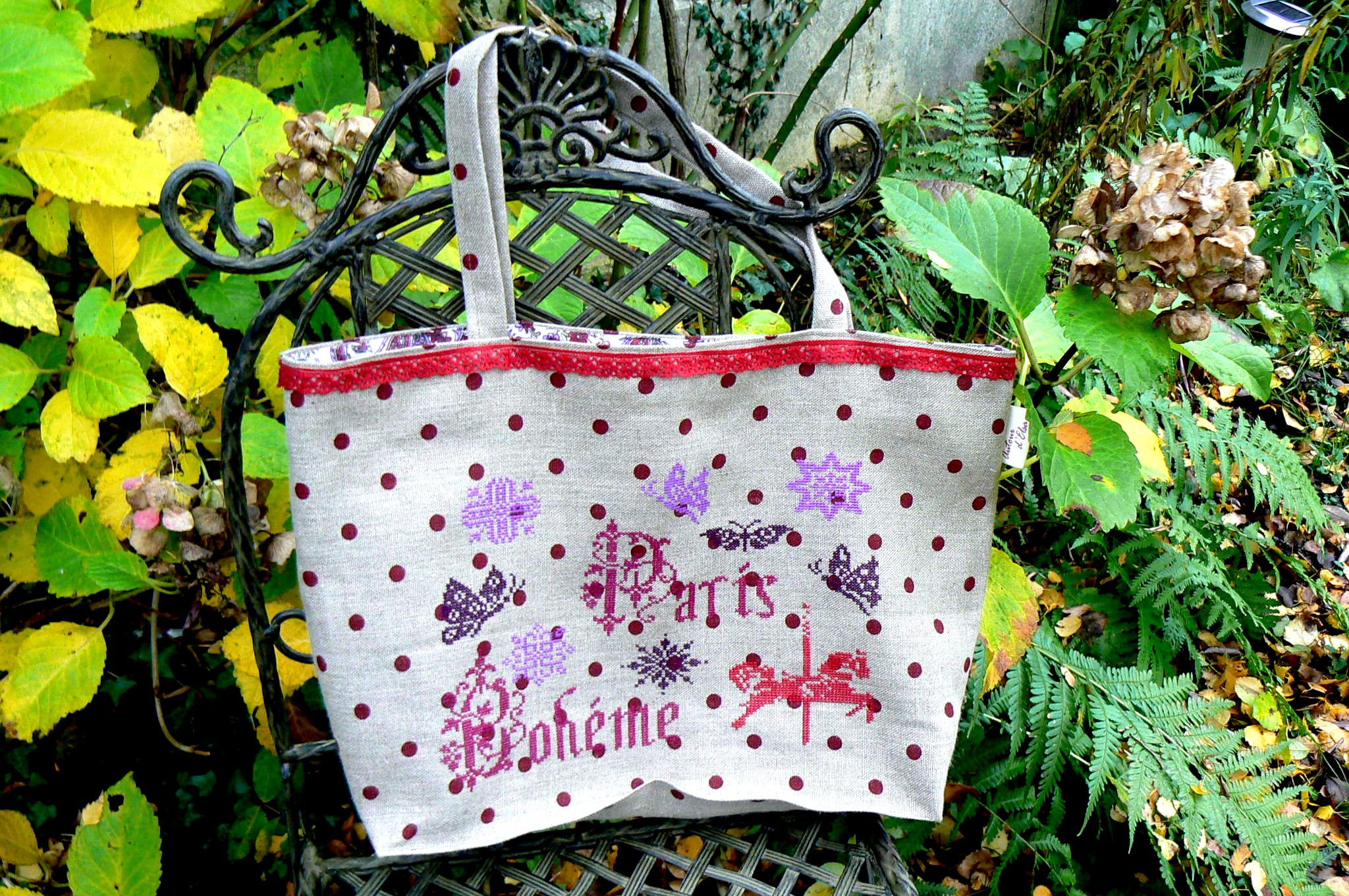 SAC BRODE POINT DE CROIX PARIS BOHEME