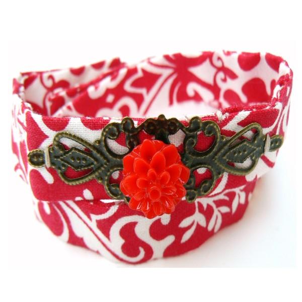 Kit DIY bijoux bracelet rouge et blanc