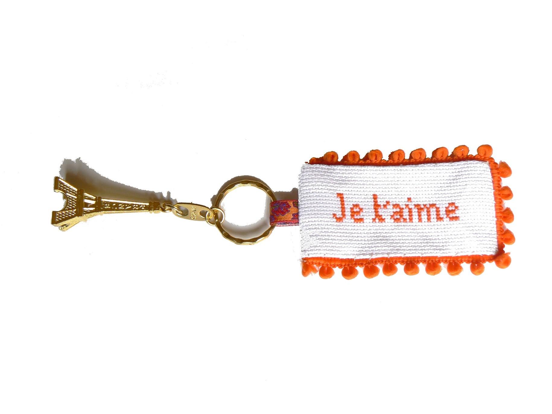 porte-cle-aida-jetaime-orange-autour-d-elsa
