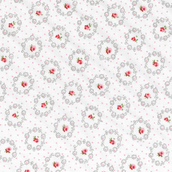 tissu-blanc-roses-dans-medaillons