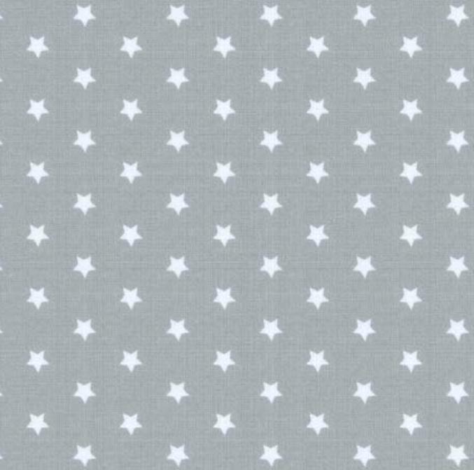 tissu-gris-étoiles-blanches