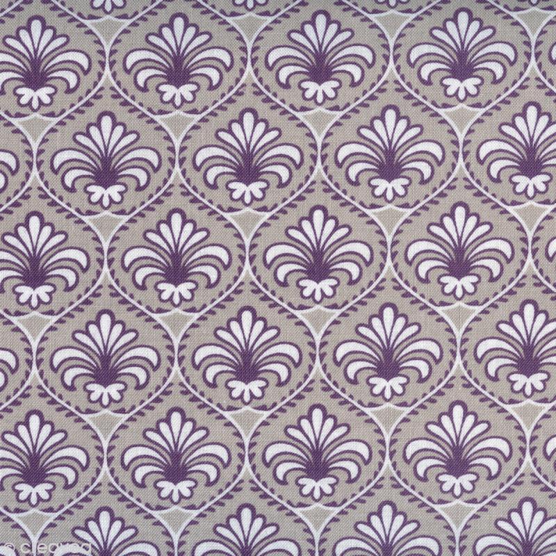 tissu-gutermann-fleur-de-lys-violet