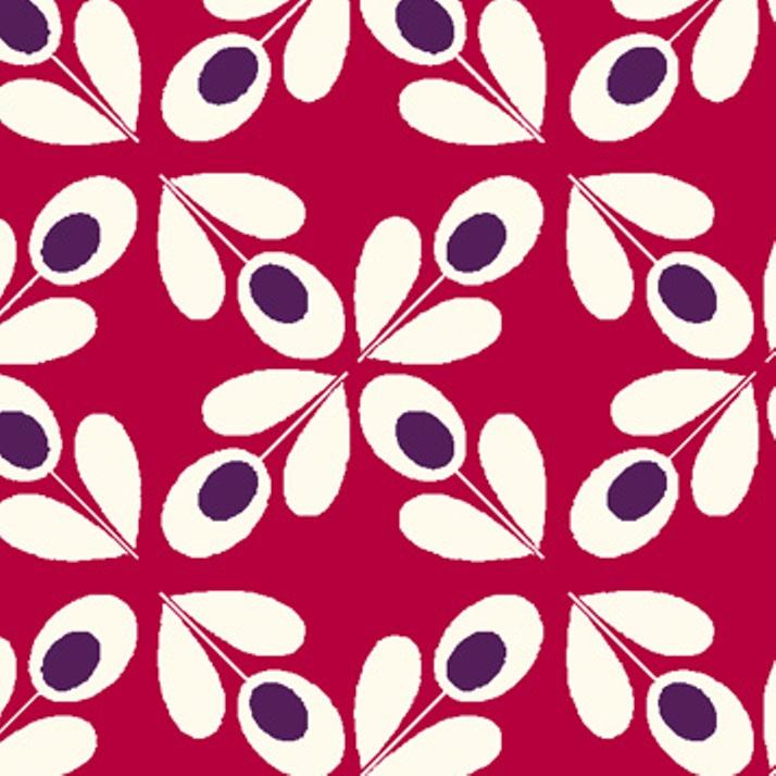 tissu rouge fleurs motif ann es 70 autour d 39 elsa. Black Bedroom Furniture Sets. Home Design Ideas