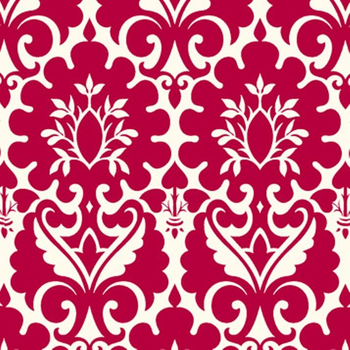 tissu-baroque-rouge-framboise-arabesques