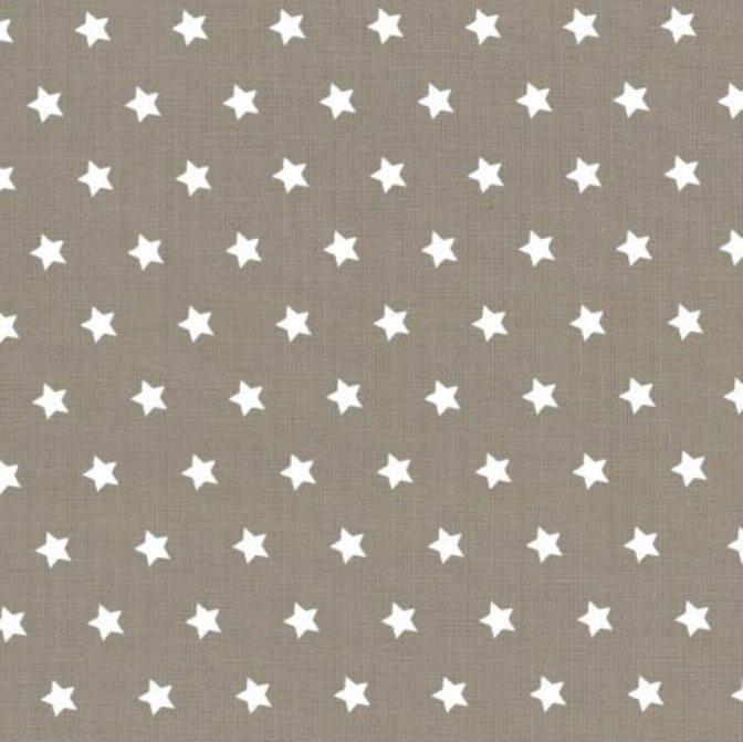 tissu-taupe-etoiles-blanches