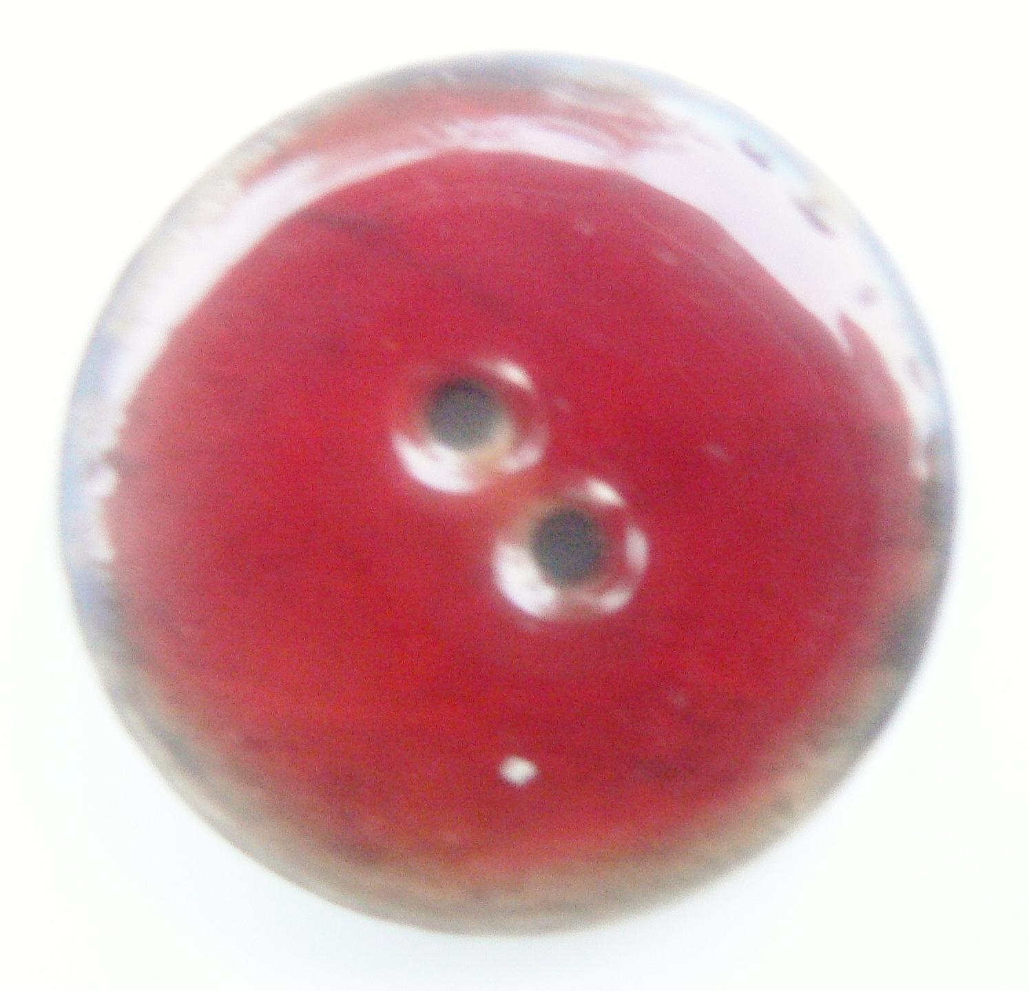 Bouton laqué en noix de coco rouge de 30 mm de diamètre
