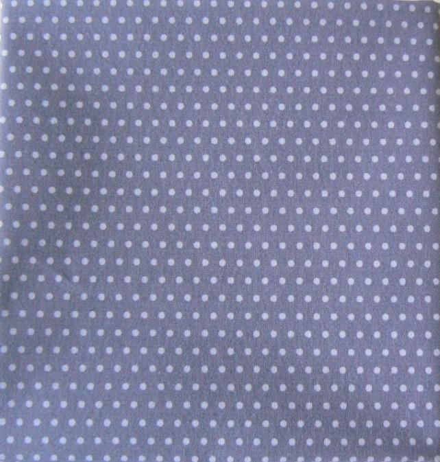 coton gris bleu pois bleu ciel