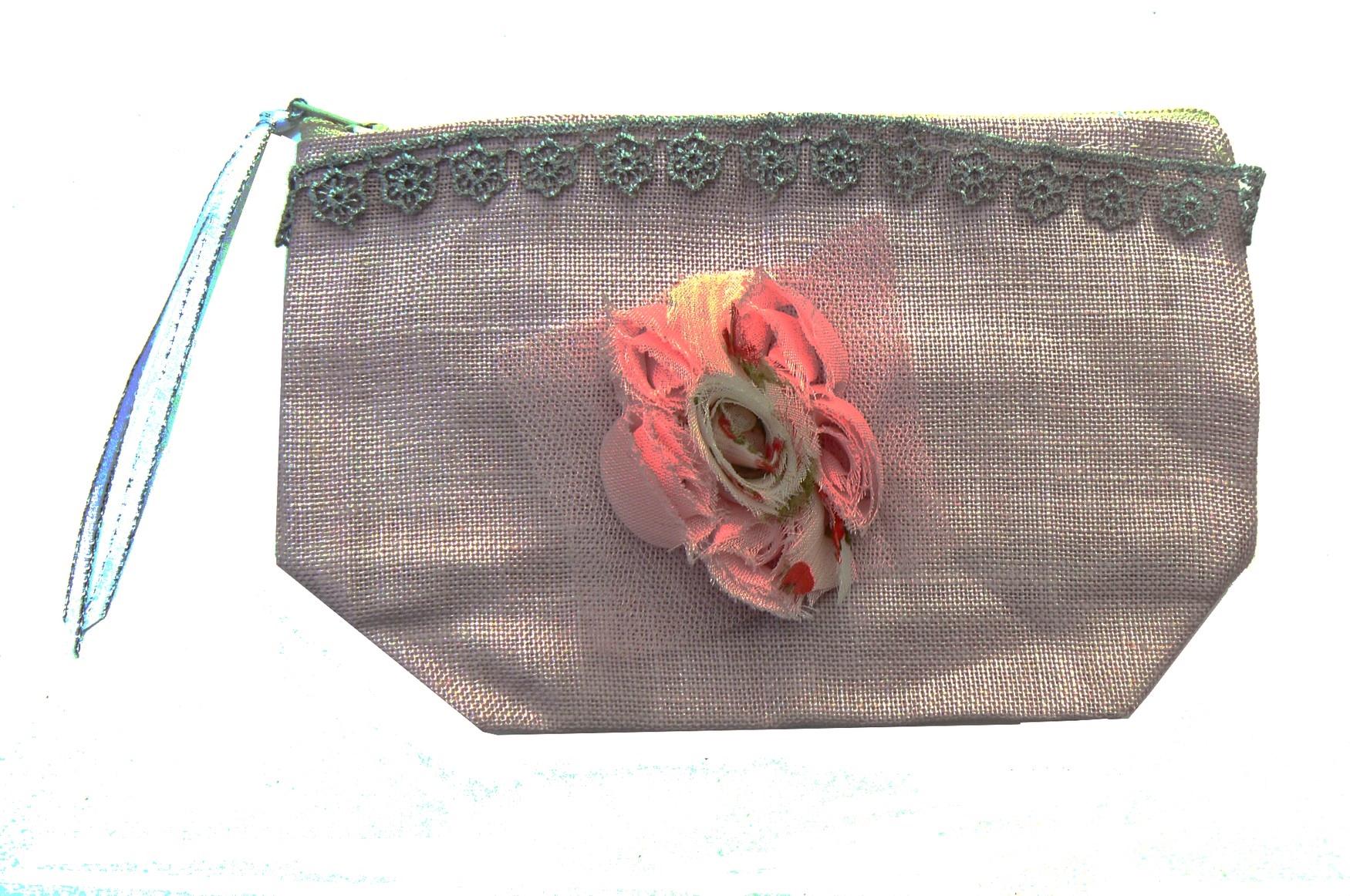 pochette-mauve-rose-fleur