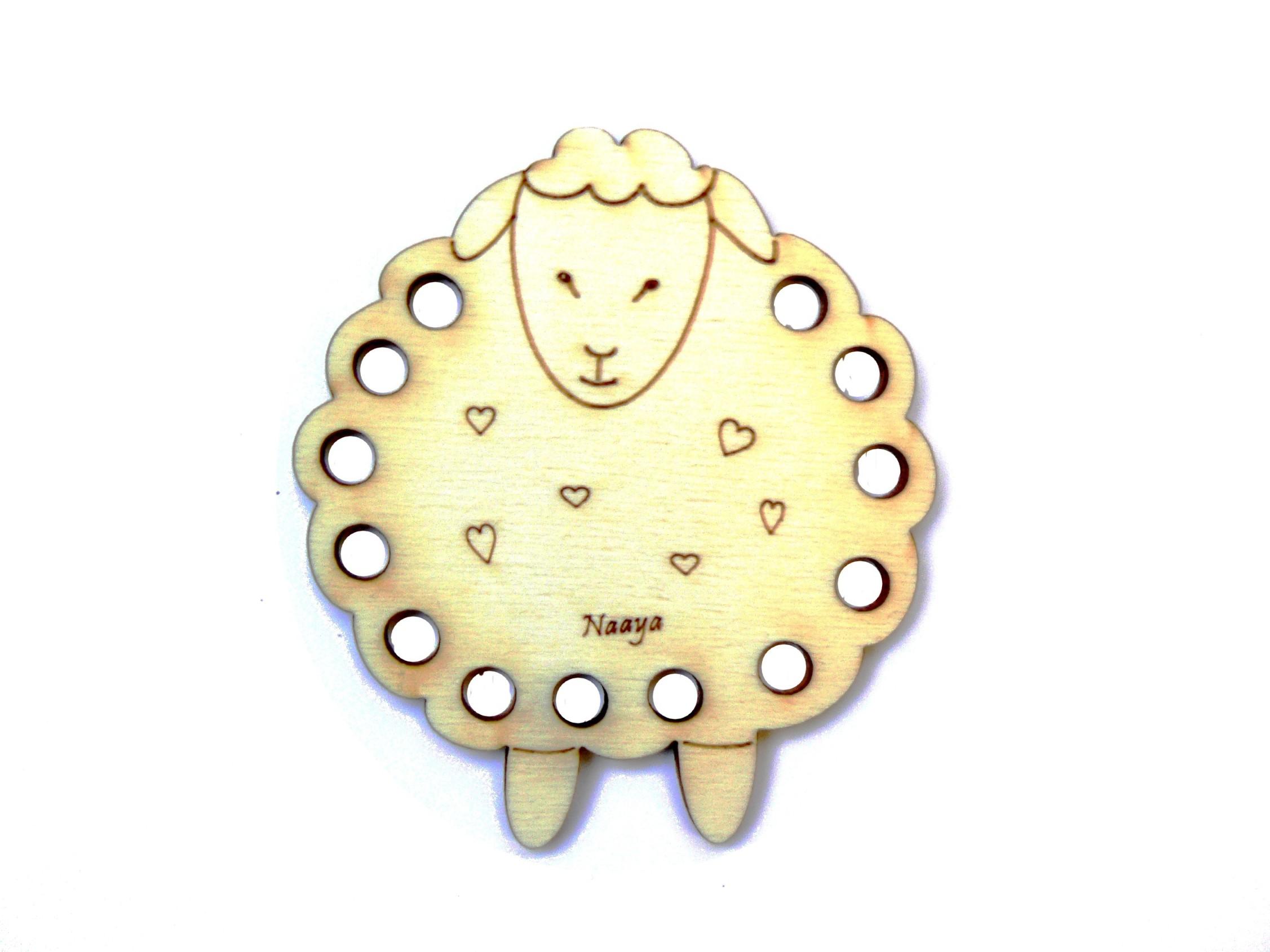 Tri-fils mouton 8 cm organiseur de fils en bois