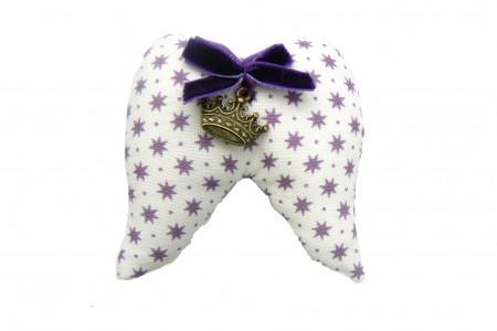 Kit DIY broche Ailes d'ange blanche étoiles