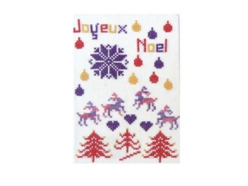 Joyeux Noël Carte postale Neige rennes sapins