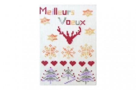 Meilleurs vœux Carte postale sapins