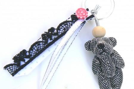Kit DIY mini nounours noir porte-clés