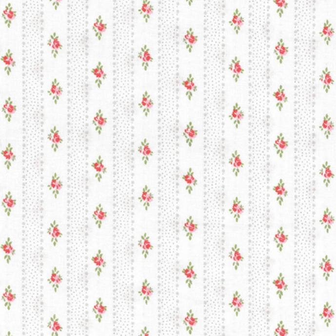 tissu-blanc-rayures-et-roses