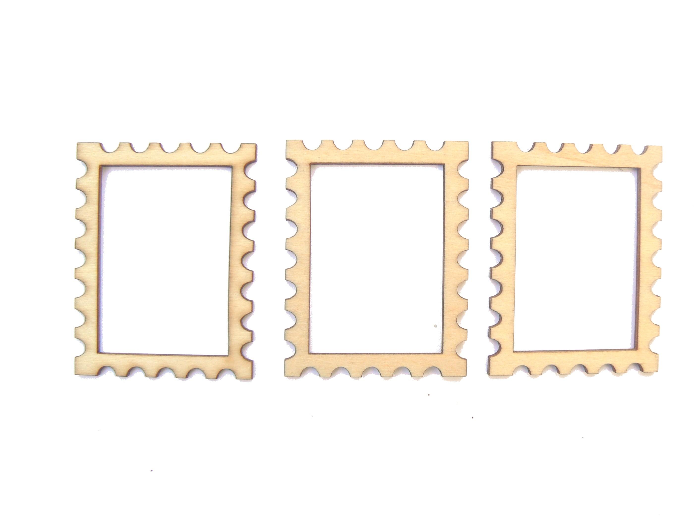 3 Mini cadres petit beurre carrés en bois clair