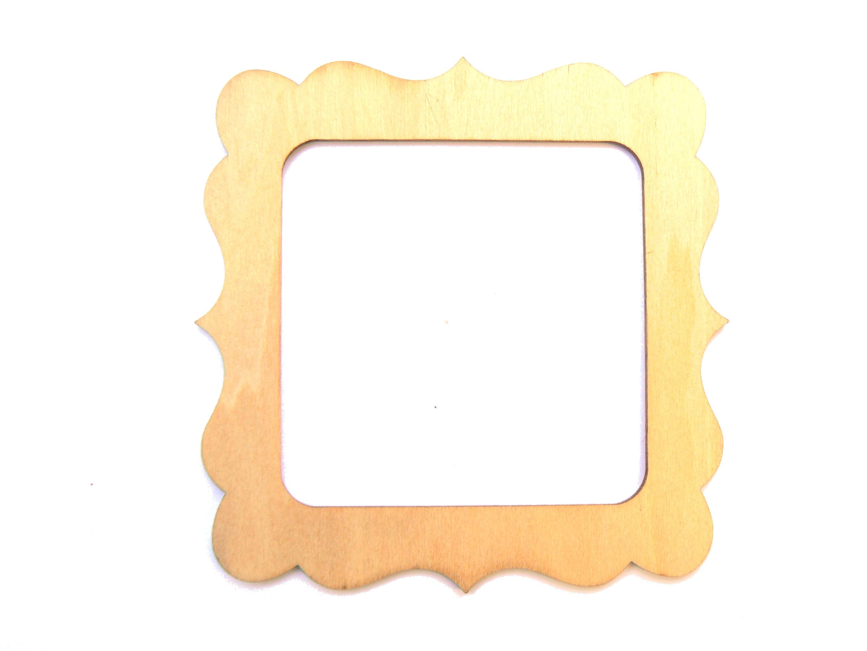 Petit cadre carré en bois clair
