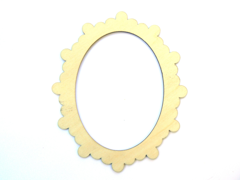 Mini cadre petit beurre ovale en bois clair