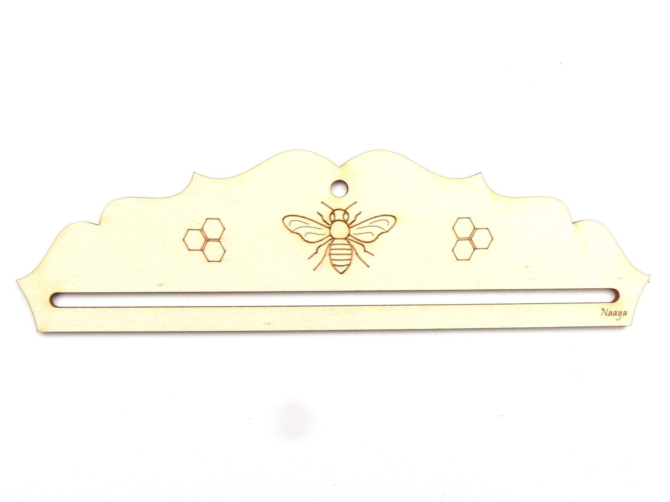 Cintre abeille suspension en bois 16,5 cm
