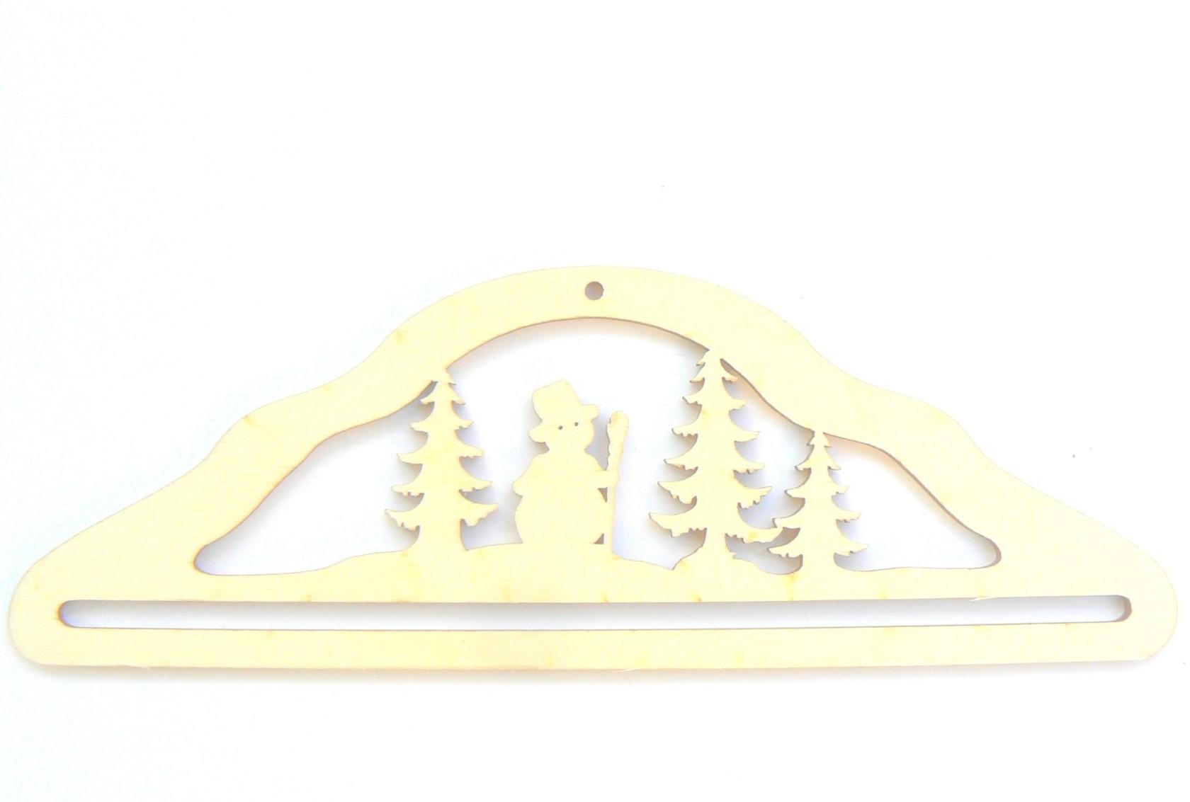 Cintre Hiver / Noël suspension en bois 21 cm