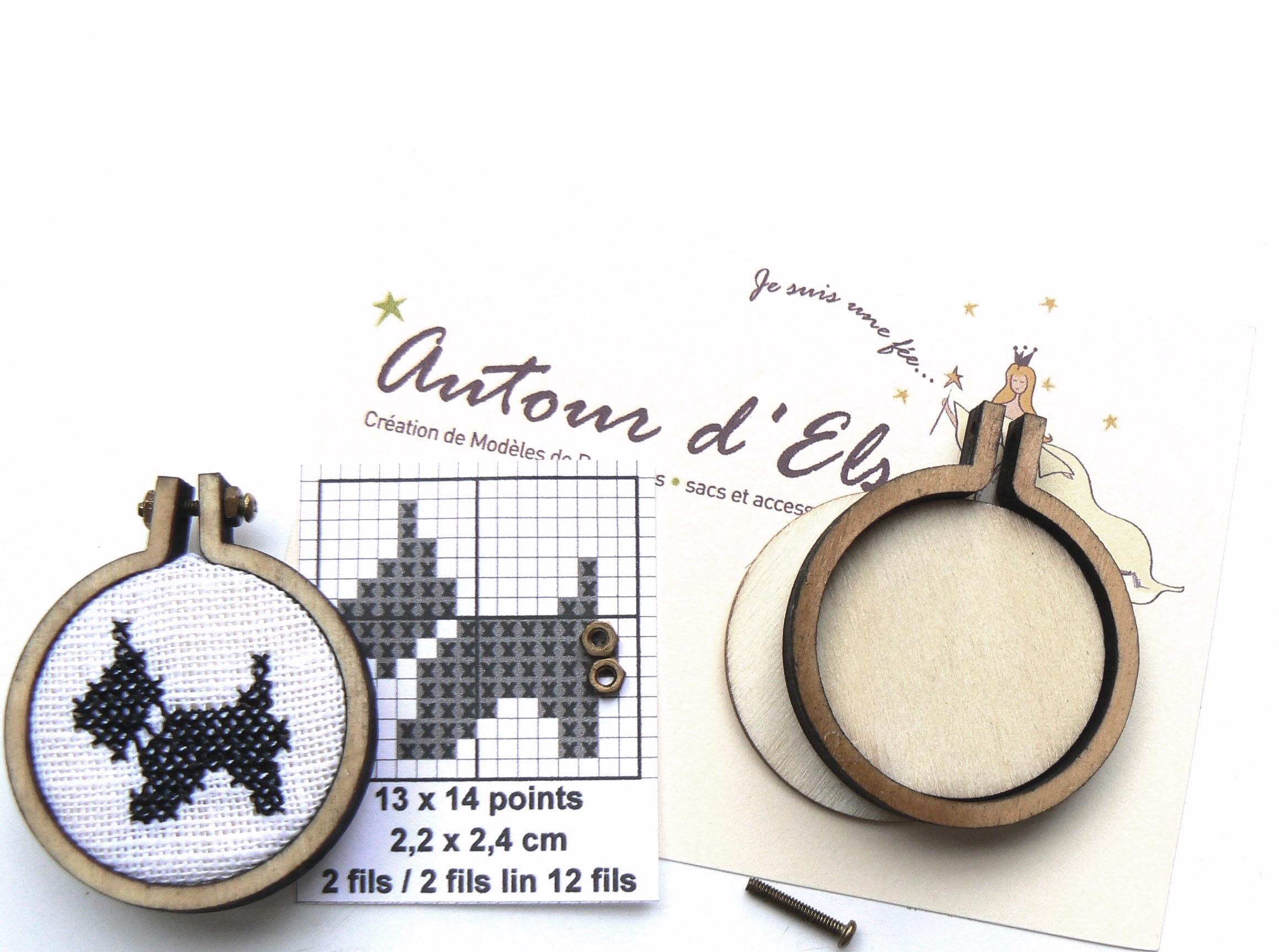 Mini tambour rond kit fox terrier pour bijou